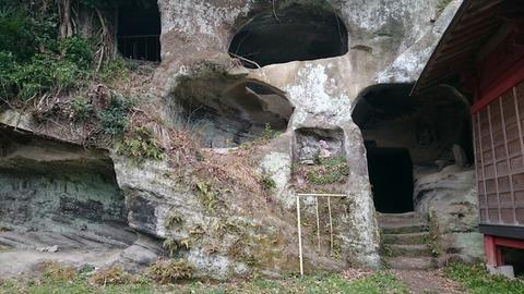 富津市 岩谷観音堂の磨崖仏群