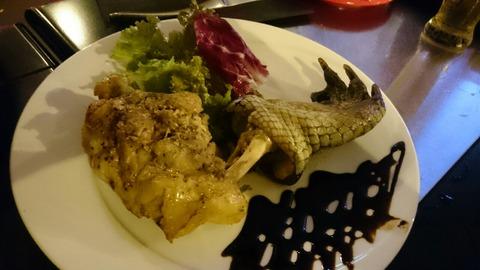 7種の肉を食す「袋鼠 鴯鶓 鰐 鴉 兎 駝鳥 蠍」/新宿「パンとサーカス」