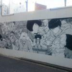 渋谷が「ネオ東京」に!!渋谷パルコ前AKIRAに浸食されたアートウォール