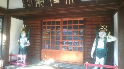 豊島園 本性院/ハンドメイド感満載な粋で乙な仁王像