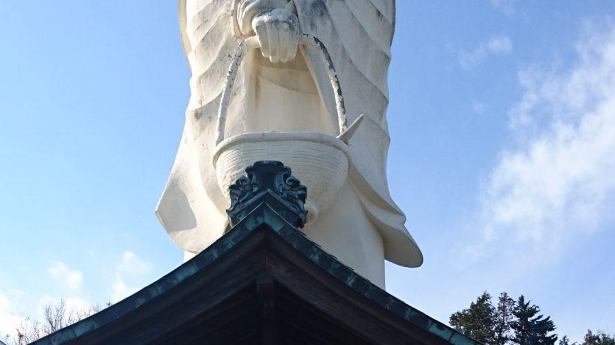 小田原市早川 魚籃大観音/早川駅にそびえる巨大観音