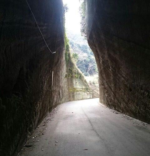 富津市竹岡 猿が住み着きし燈籠坂大師/切通しトンネル