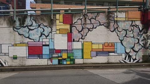 グラフィティアートと共存する街 松戸「MAD WALL」