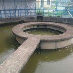 【我孫子】湖北台にある滝下機場の円筒分水