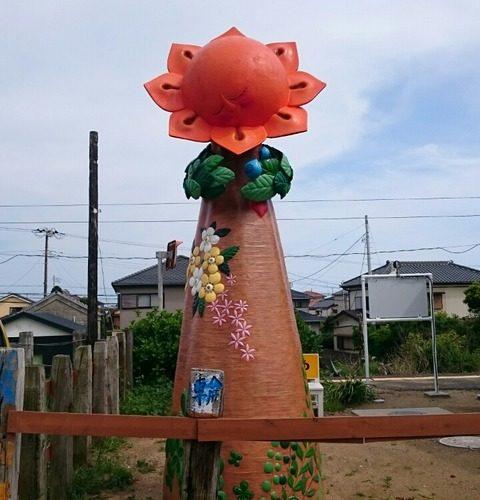 【銚子】銚子電鉄 外川駅に突如現れた謎のモニュメント「笑顔の塔」