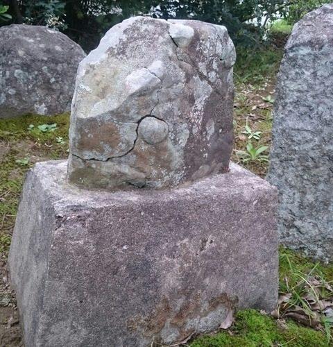 【安食】生殖器崇拝/大乗寺 石仏の裏にひっそりと隠れている男根の神様