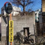 【船橋市】植物は強しタイプのトマソン!?…壁に喰われる木…