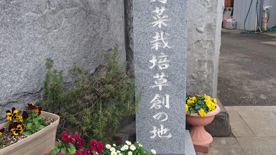 【柏市】中国野菜栽培創草の地…