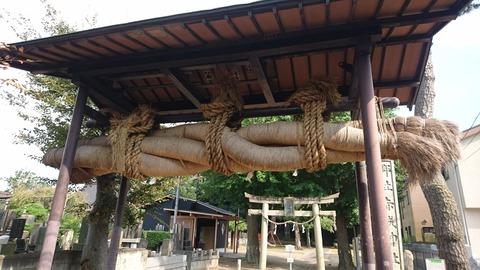 【流山】巨大しめ縄のある流山地名発祥伝説の神社…a.k.a赤城神社
